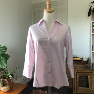 Foxcroft Pink Button Down Shirt Stretch Small
